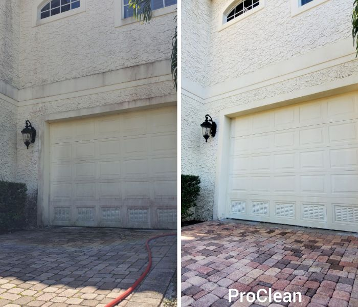 tampa pressure washing company before and after pic
