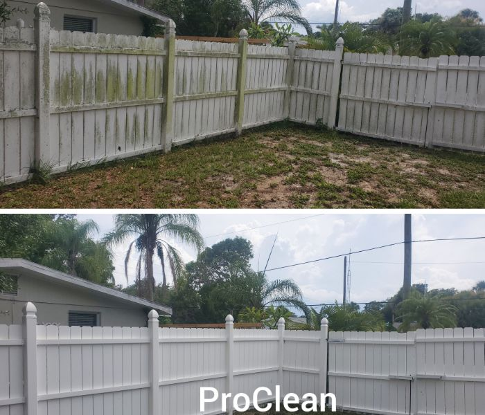 Tampa fence pressure washing means a more attractive property.
